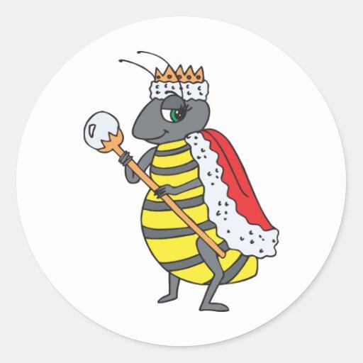 Queen Bee Round Sticker