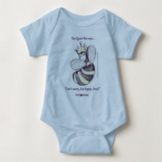 Queen Bee says Bee Happy (Kiwi Series) Baby Bodysuit