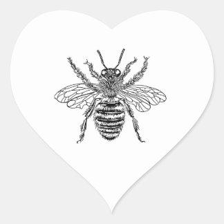 Queen Bee Heart Sticker