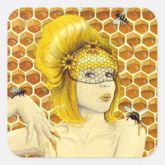 Queen Bee stickers - surreal fantasy art