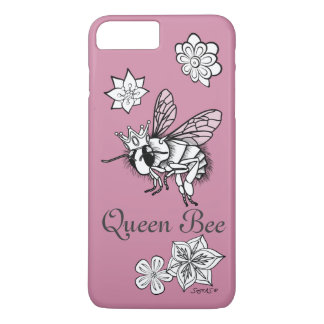 Queen Bee with Flowers: DIY Coloring by Sonja A.S. iPhone 7 Plus Case