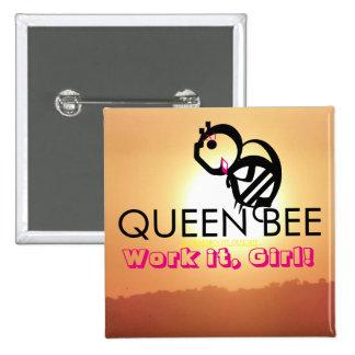 QUEEN BEE Work it, Girl! 15 Cm Square Badge