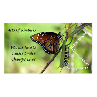 Queen Butterfly Random Acts of Kindness Card Business Card Templates