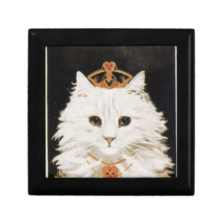 Queen Cat Small Square Gift Box