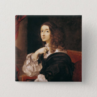 Queen Christina of Sweden 15 Cm Square Badge