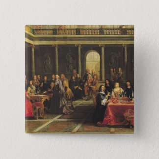 Queen Christina of Sweden  and her Court 15 Cm Square Badge