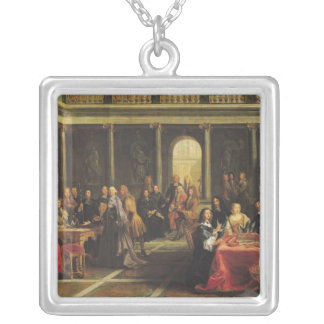 Queen Christina of Sweden  and her Court Silver Plated Necklace