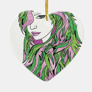 Queen Confidence Ceramic Heart Decoration