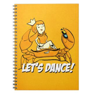 Queen Crab Reggae Girl Notebook