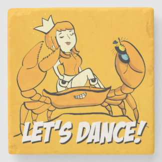 Queen Crab Reggae Girl Stone Coaster