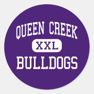 Queen Creek - Bulldogs - High - Queen Creek Round Sticker