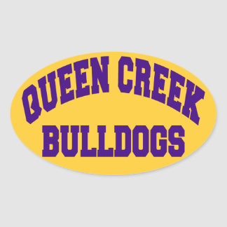 Queen Creek Bulldogs Oval Sticker