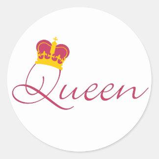 Queen Design Round Stickers