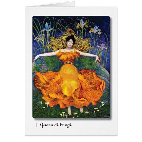 Queen di Fungi Tarot Art Card