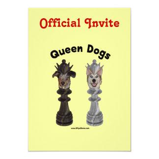 Queen Dogs Chess 13 Cm X 18 Cm Invitation Card