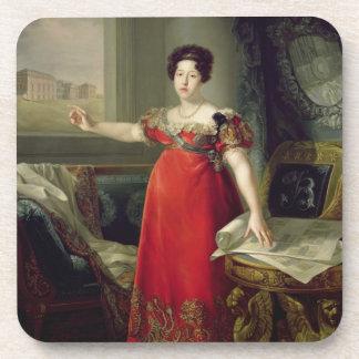 Queen Dona Maria Isabel de Braganza, 1829 (oil on Coaster