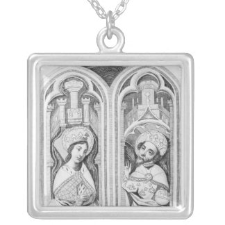 Queen Eleanor and Henry III, taken ancient Silver Plated Necklace