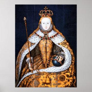 QUEEN ELIZABETH 1 CORONATION 1559 POSTER