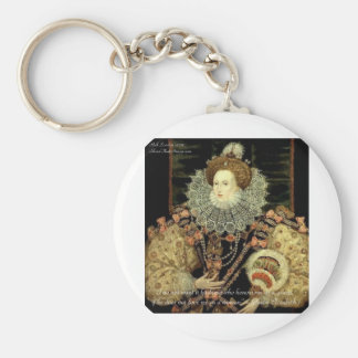 Queen Elizabeth 1 Love/Honour Love Quote Gifts Basic Round Button Key Ring