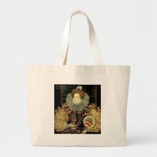 Queen Elizabeth 1 Love/Honour Love Quote Gifts Jumbo Tote Bag