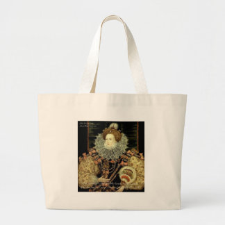 Queen Elizabeth 1 Love/Honour Love Quote Gifts Large Tote Bag