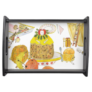 Queen Elizabeth 1st  of Puddings Funny Quirky Art Serving Tray