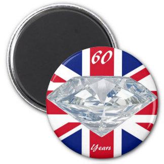 Queen Elizabeth 60 Year Jubilee 6 Cm Round Magnet