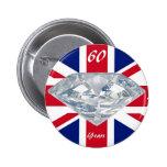 Queen Elizabeth 60 Year Jubilee Buttons