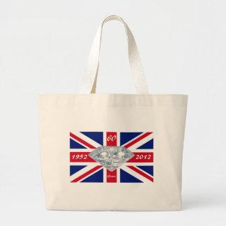 Queen Elizabeth 60 Year Jubilee Large Tote Bag