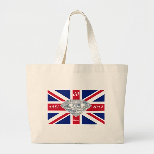 Queen Elizabeth 60 Year Jubilee Large Tote Bag