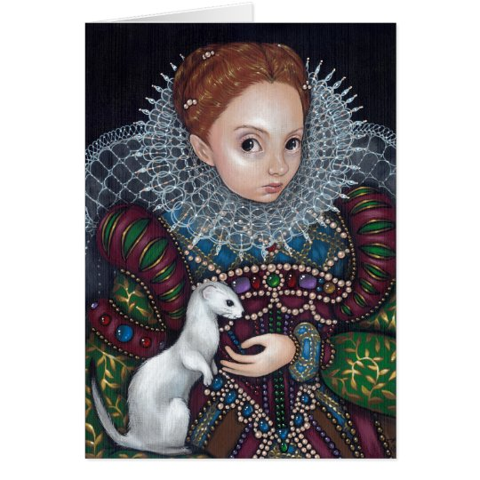 """""""Queen Elizabeth and an Ermine"""" Greeting Card"""