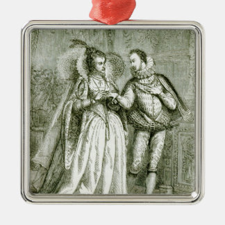 Queen Elizabeth and her Suitors Christmas Ornament