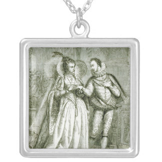 Queen Elizabeth and her Suitors Silver Plated Necklace