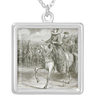 Queen Elizabeth at Tilbury Silver Plated Necklace