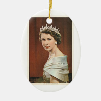Queen Elizabeth Ceramic Oval Decoration