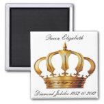 Queen Elizabeth Crown  Magnet Magnet