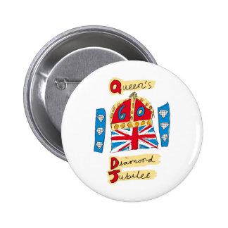 queen elizabeth diamond jubilee 2012 6 cm round badge