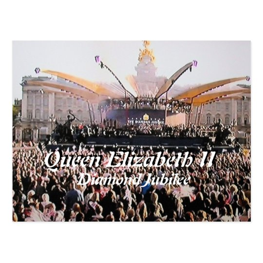 Queen Elizabeth Diamond Jubilee concert postcard