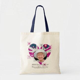 Queen Elizabeth Diamond Jubilee UK flag Budget Tote Bag