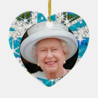 Queen Elizabeth Diamond Jubilee  UK flag Christmas Ornament