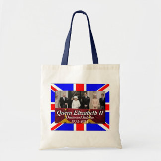 Queen Elizabeth family portrait jubilee flag bag