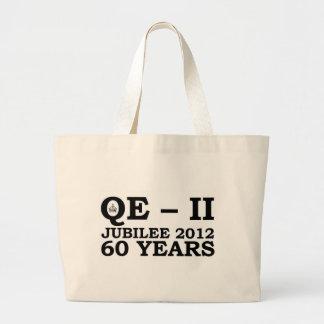 Queen Elizabeth Golden Jubilee Retro Tote Bags