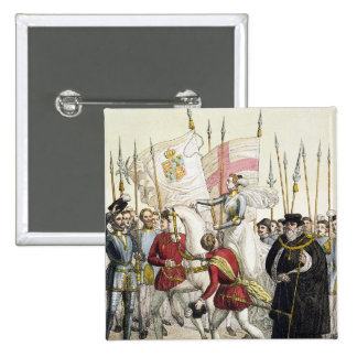 Queen Elizabeth I (1530-1603) Rallying the Troops 15 Cm Square Badge