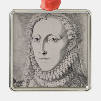 Queen Elizabeth I (1533-1603), c.1572-75 (engravin Christmas Ornament
