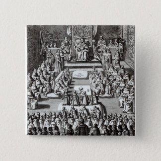 Queen Elizabeth I  and Parliament 15 Cm Square Badge