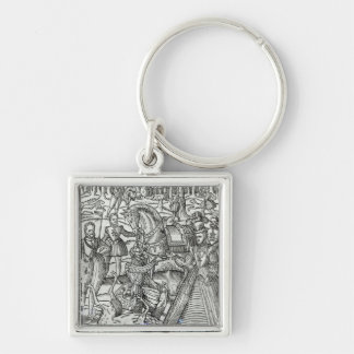 Queen Elizabeth I  at a stag hunt Key Ring