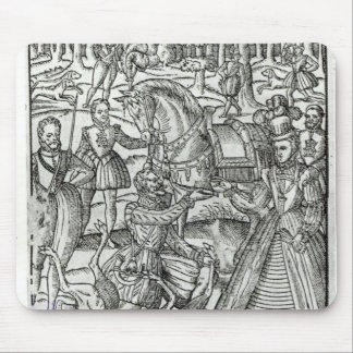 Queen Elizabeth I  at a stag hunt Mouse Pad