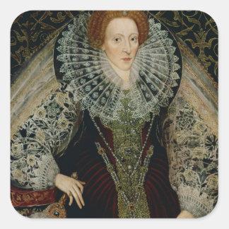 Queen Elizabeth I, c.1585-90 Square Sticker