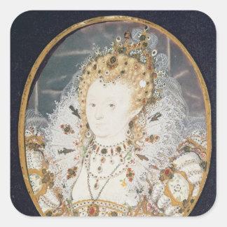 Queen Elizabeth I, c.1595-1600 Square Sticker