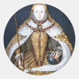 Queen Elizabeth I Coronation Round Sticker